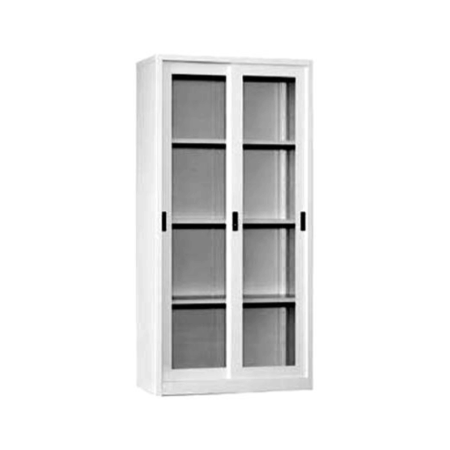 Full Height Glass Sliding Door Cabinet