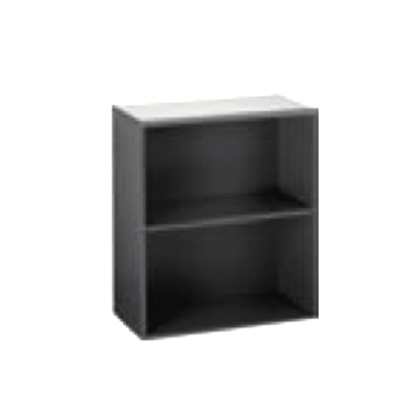 Grey Open Shelf Cabinet