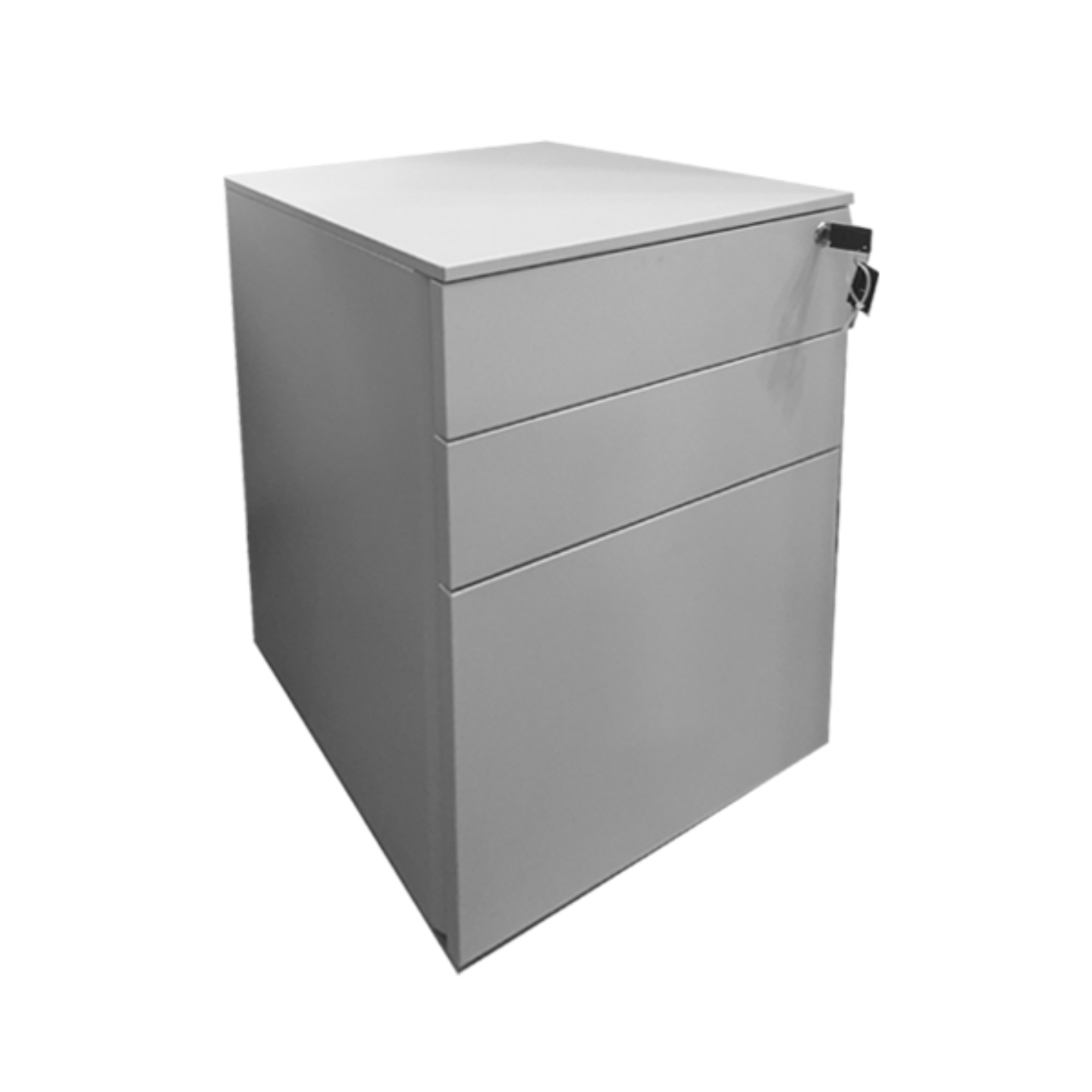 Metal Mobile Pedestal with 2 Drawers & 1 Filing