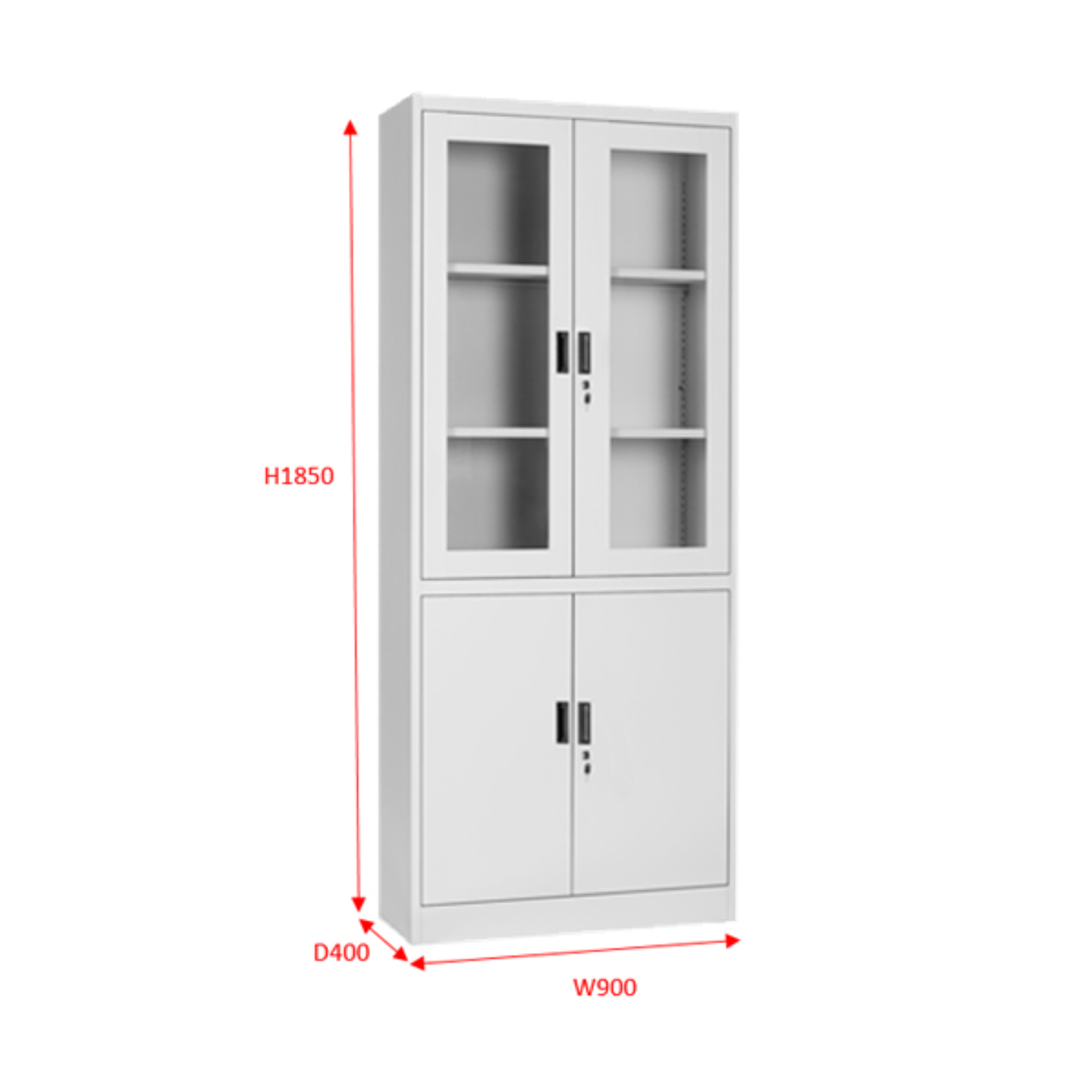 FC-H2 Full Height Swing & Glass Door Cabinet