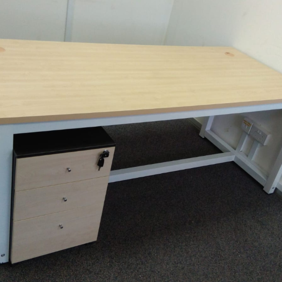 CT 1.8m Office Table with Maple Table Top