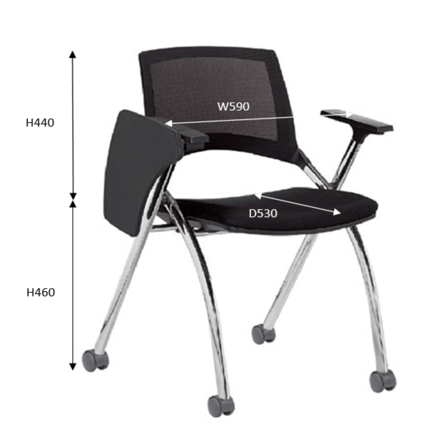 SAPPHIRE II Student Chair with Castors