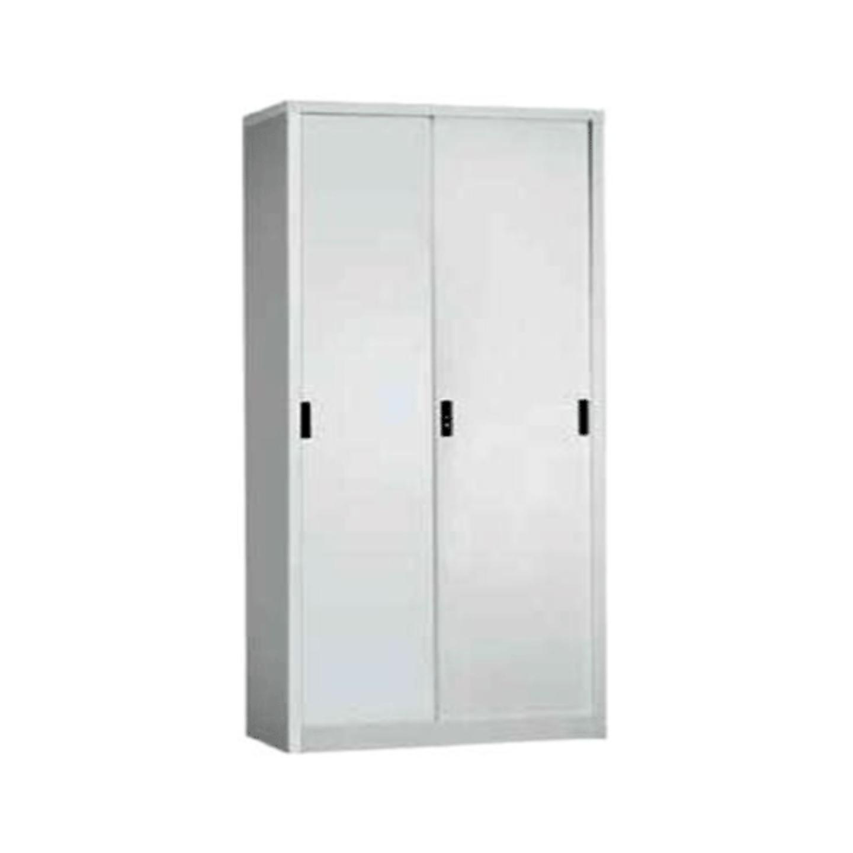 ST-014 Full Height Sliding Door Cabinet c/w 4 Shelves (Col. Grey)