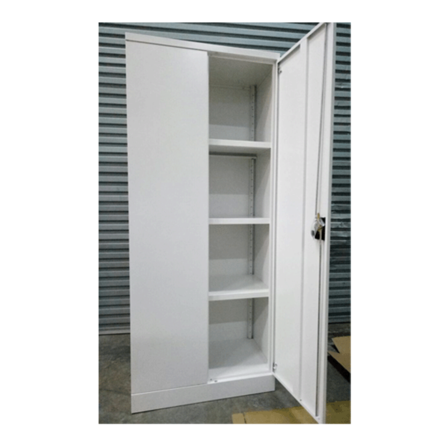 White Full Height Swing Door Cabinet
