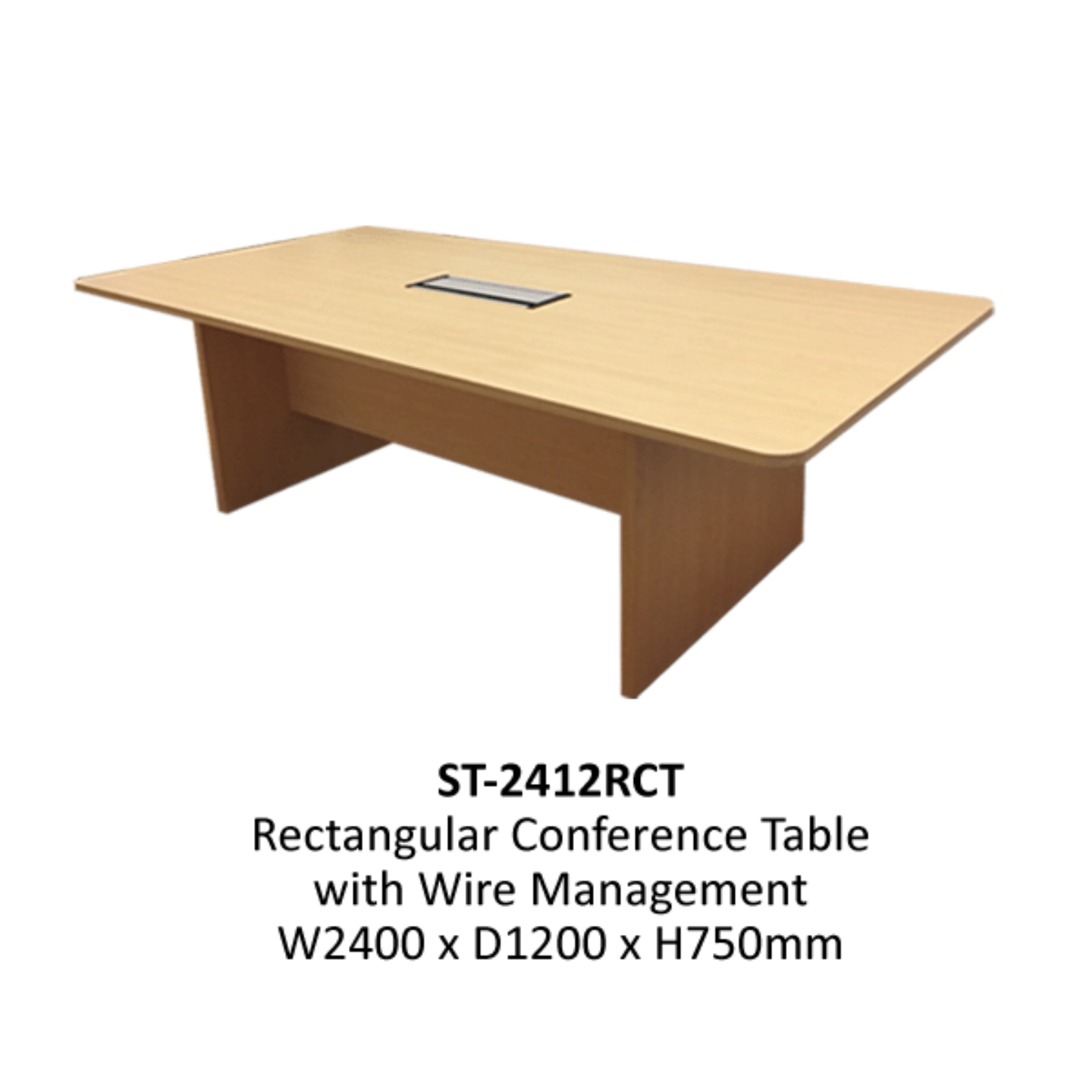 2.4m Rectangular Conference Table