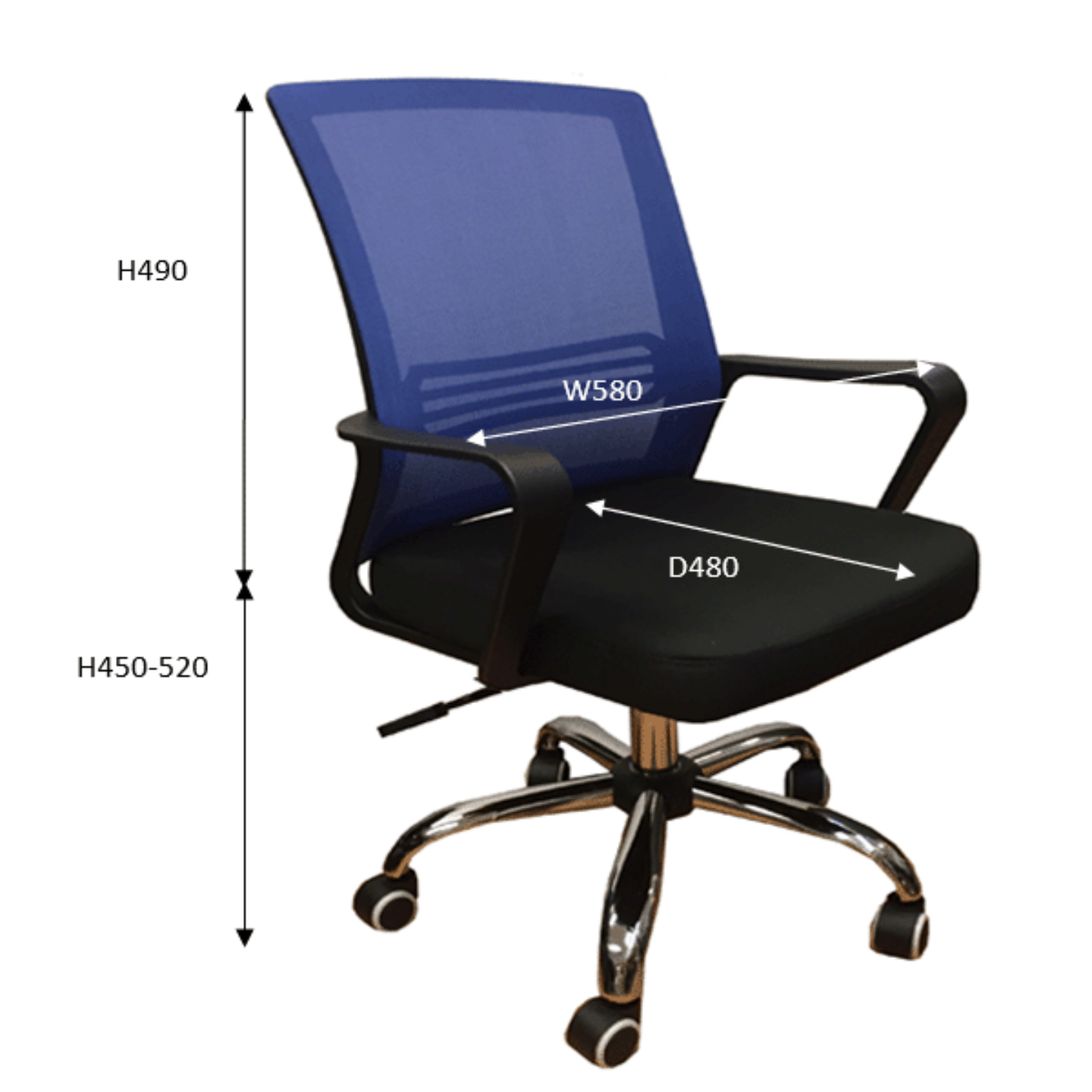 QUARTZ II Mesh Chair Blue