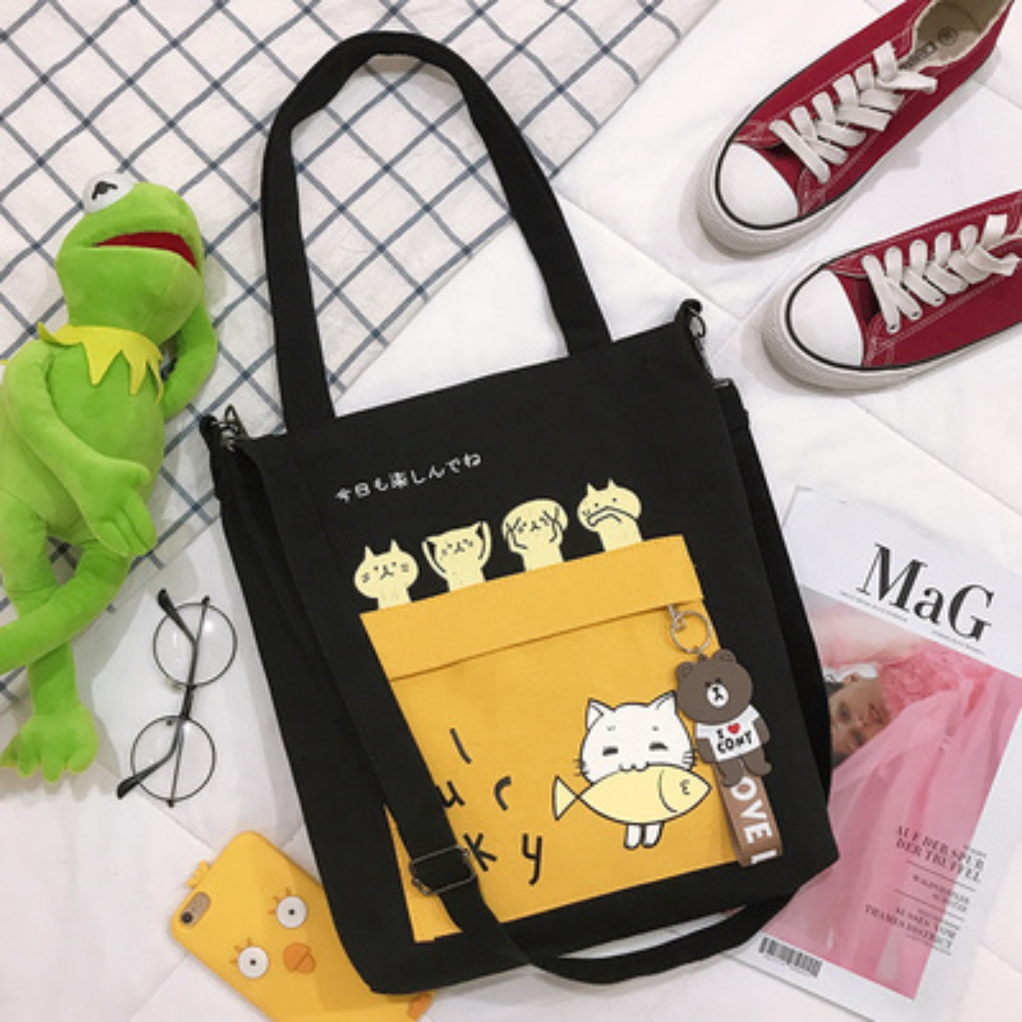 Tote bag Tutorial bag primary school student canvas bag female