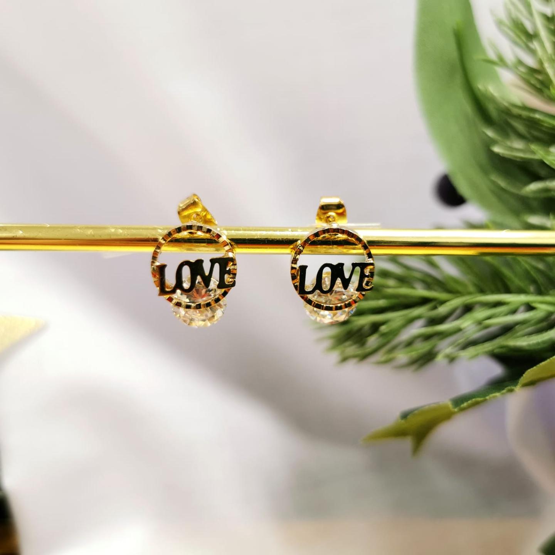 Korean Love style earrings