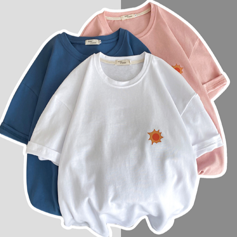 Short-sleeved men's loose cotton tide fat big size five-point sleeve half-sleeved Korean trend summer printed T-shirt