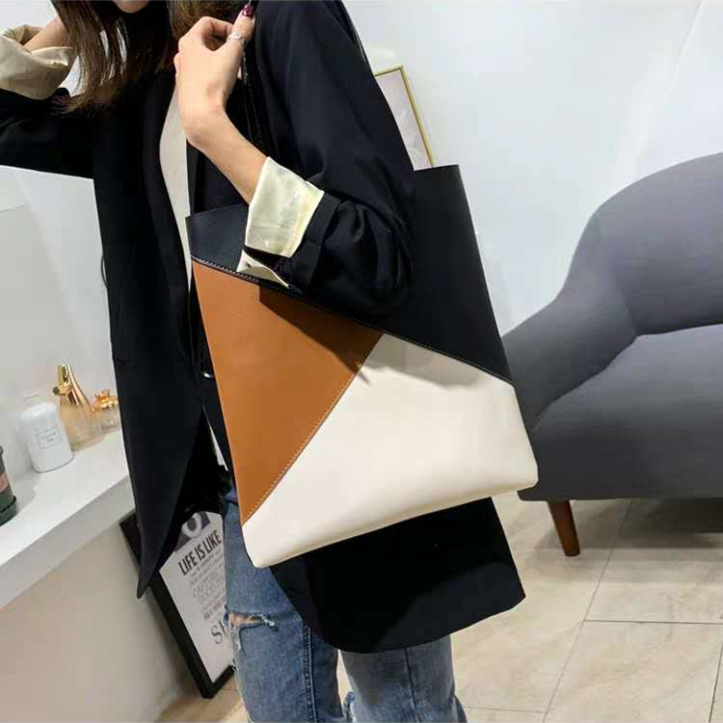 Korean style pvc tote bag