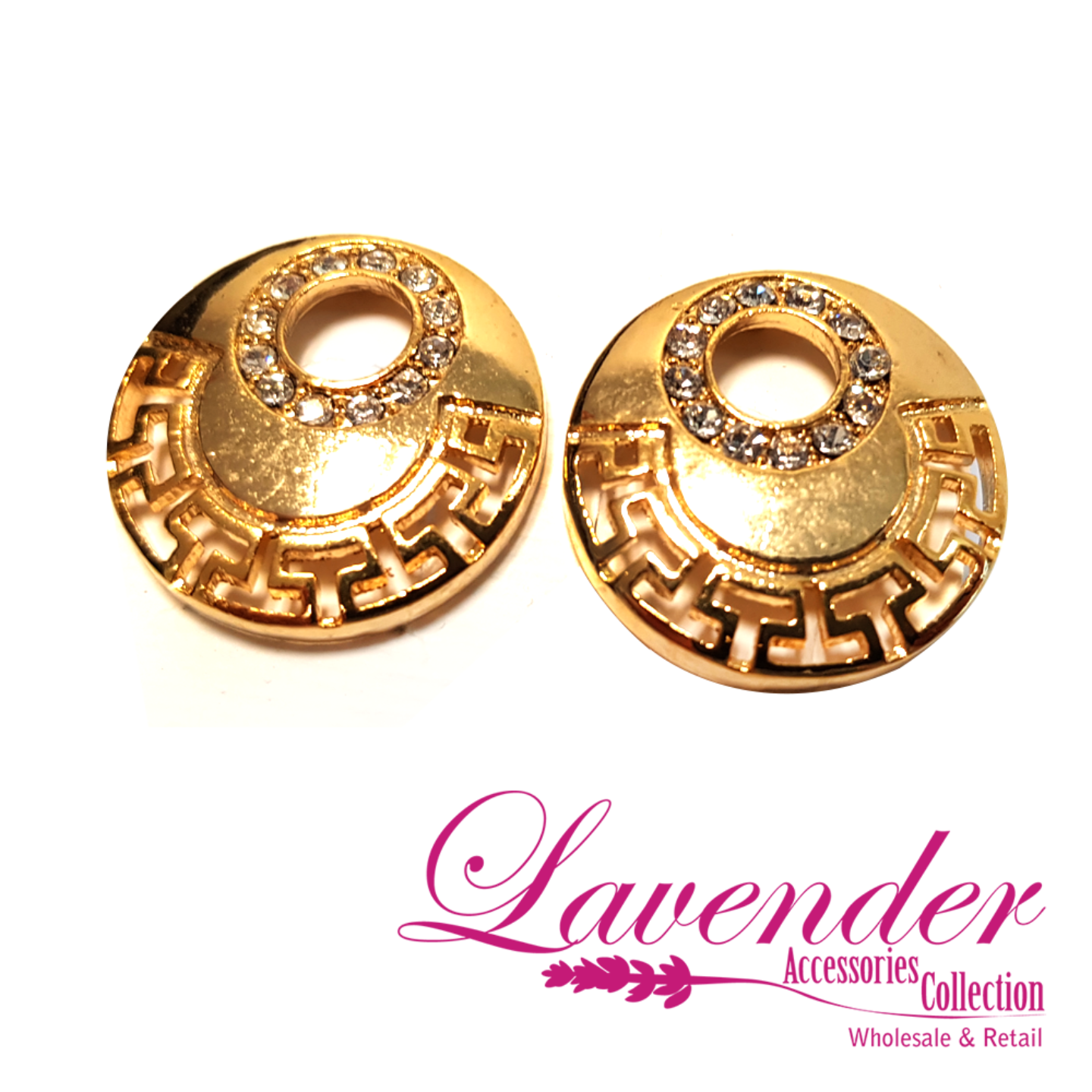 Golden Fashion Round Earring