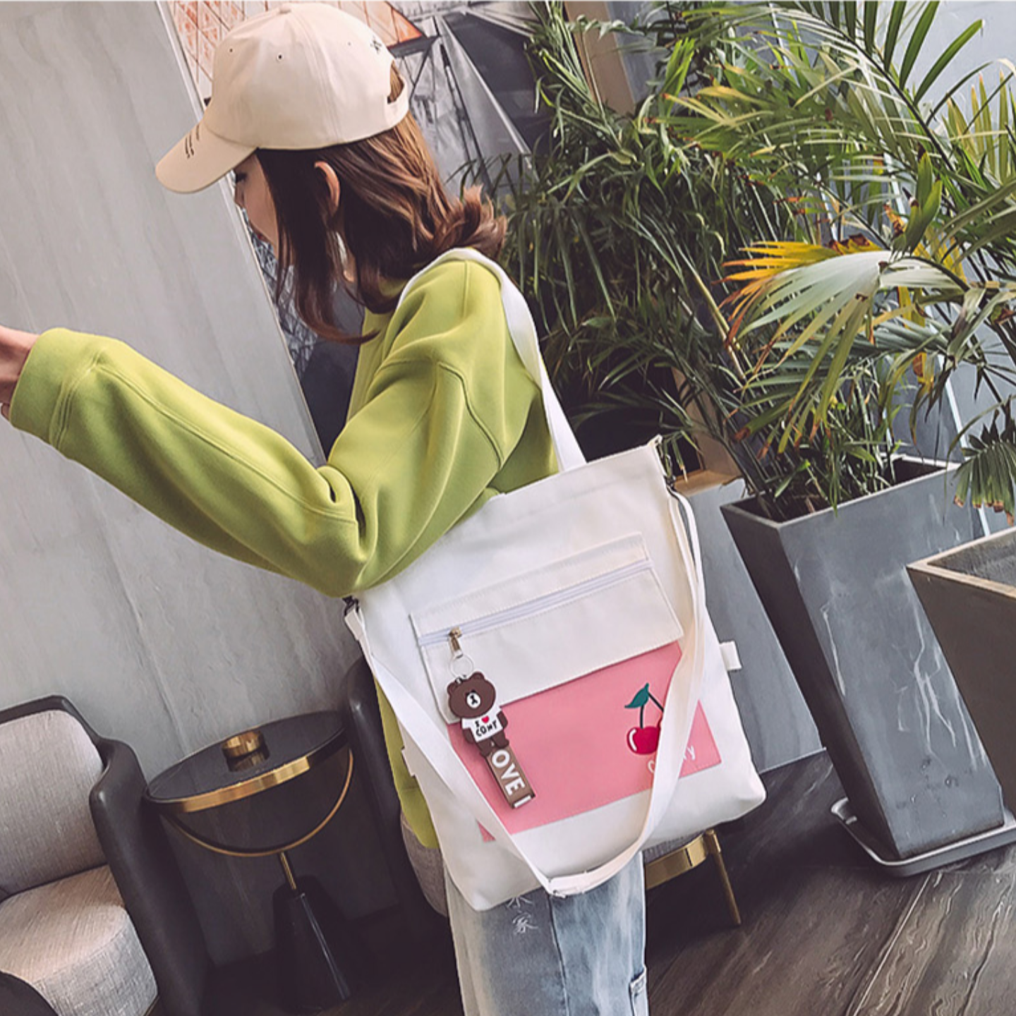 Tote bag 3-way bag