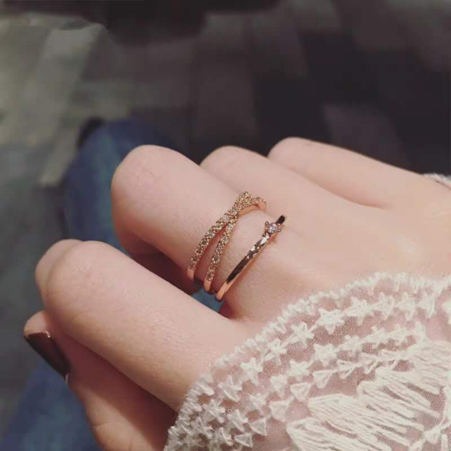 Korean Fashion Diamond Rings