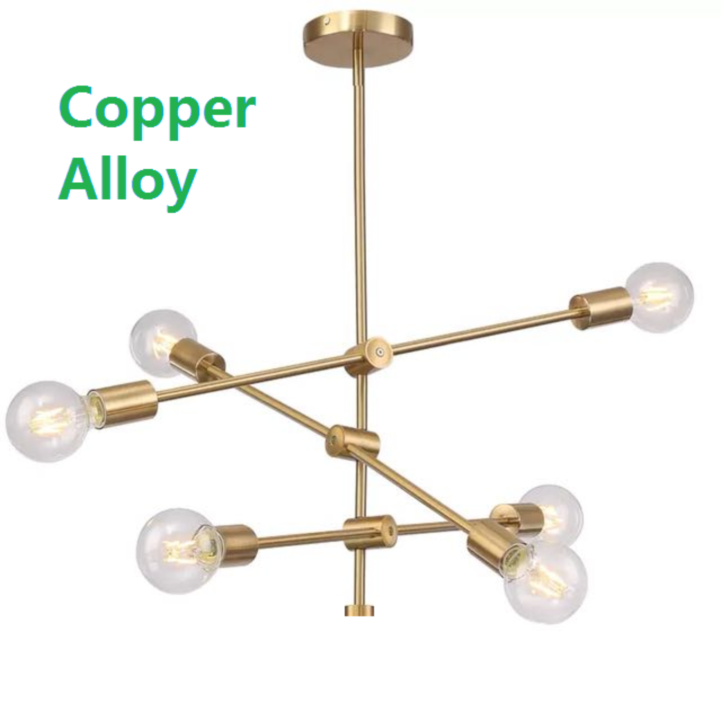 Balancing Chandelier Copper Alloy