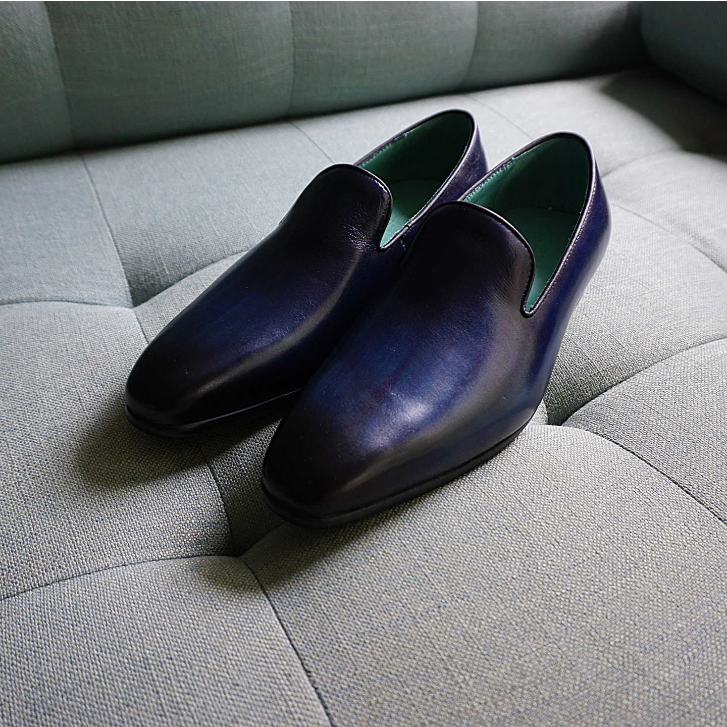 Wholecut Loafers in Royal Blue