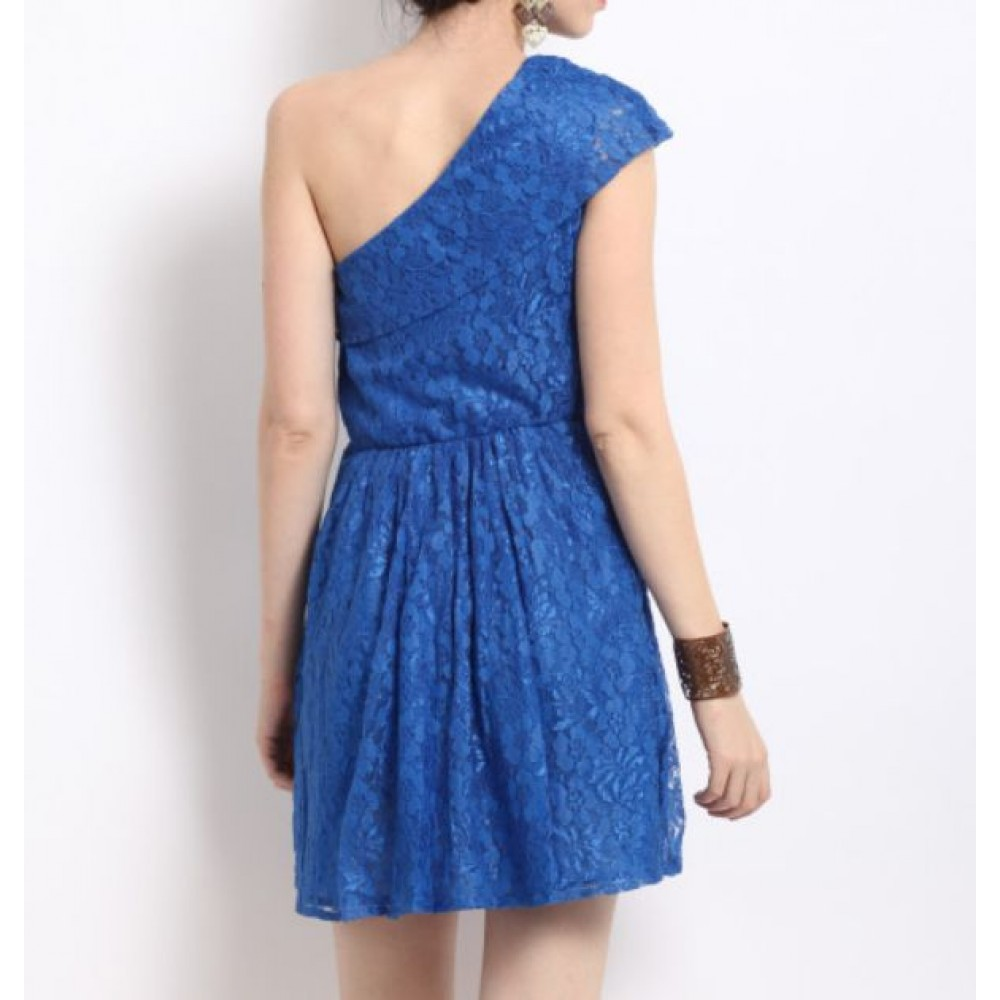 La  Facon-blue-fit--flare-dress