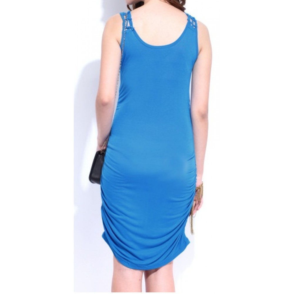 Lafacon-blue-cling-berry-dress