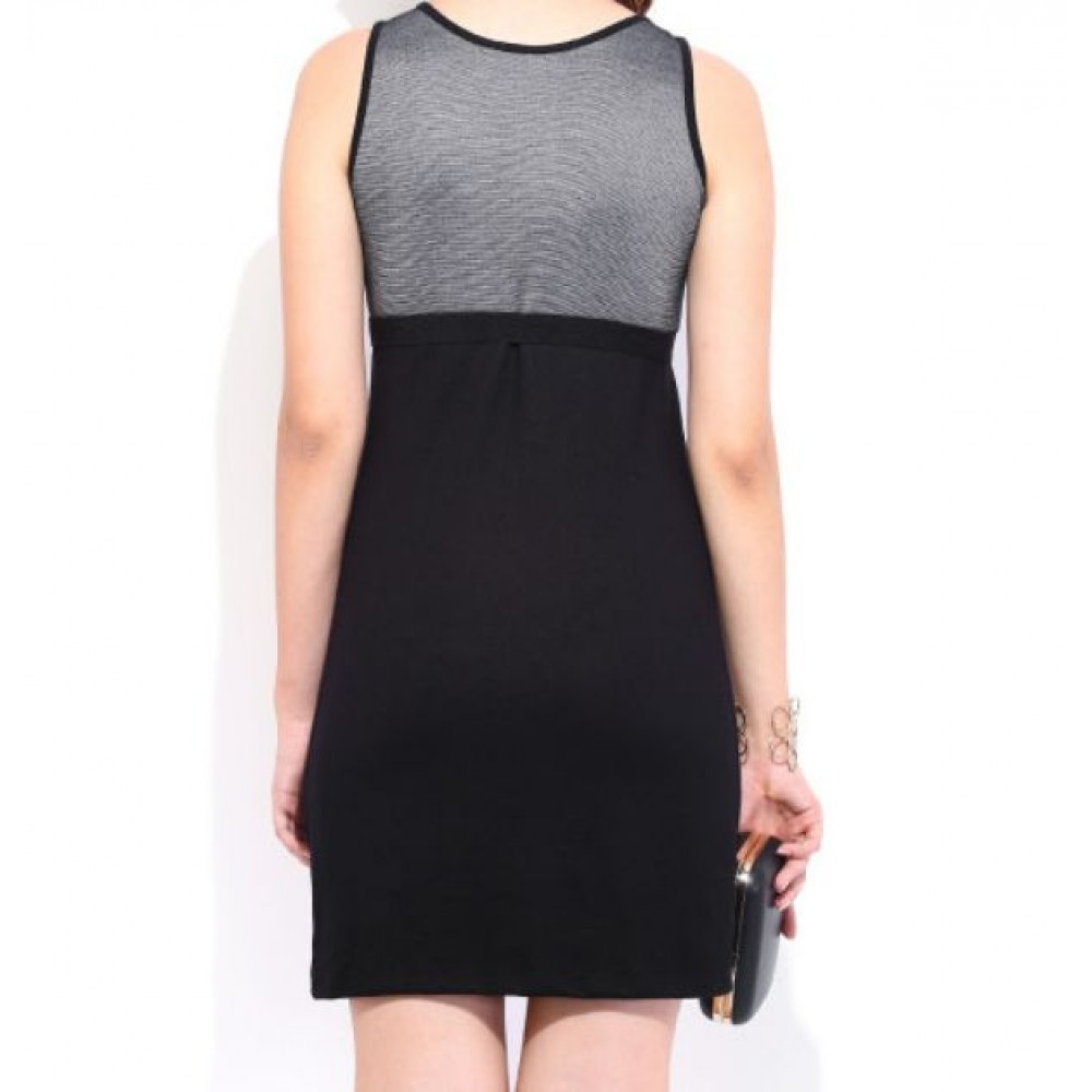 La  Facon-Charcoal-Grey--Black-Cling-Berry-Dress