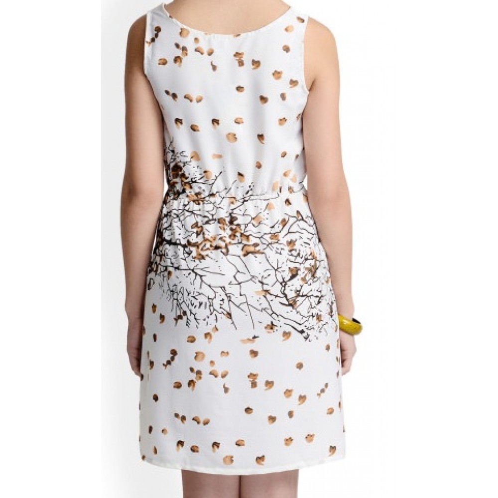 La Facon-white-printed-shift-dress