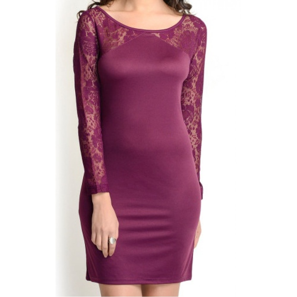 La Facon-purple-lace-bodycon-dress