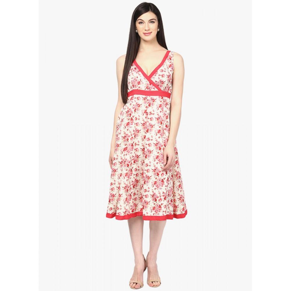 Lafacon-Off-White-Printed-Skater-Dress