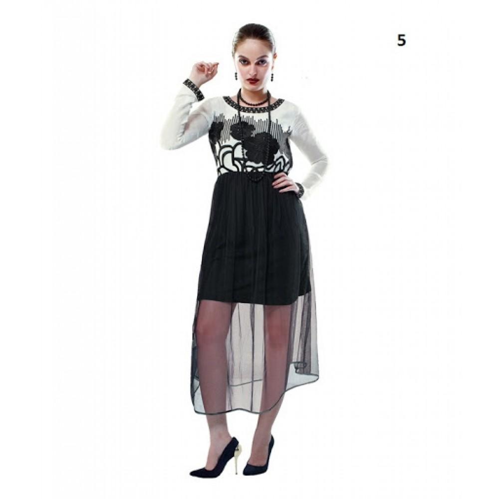 Lafacon Stitched Black Solid Georgette Kurtii