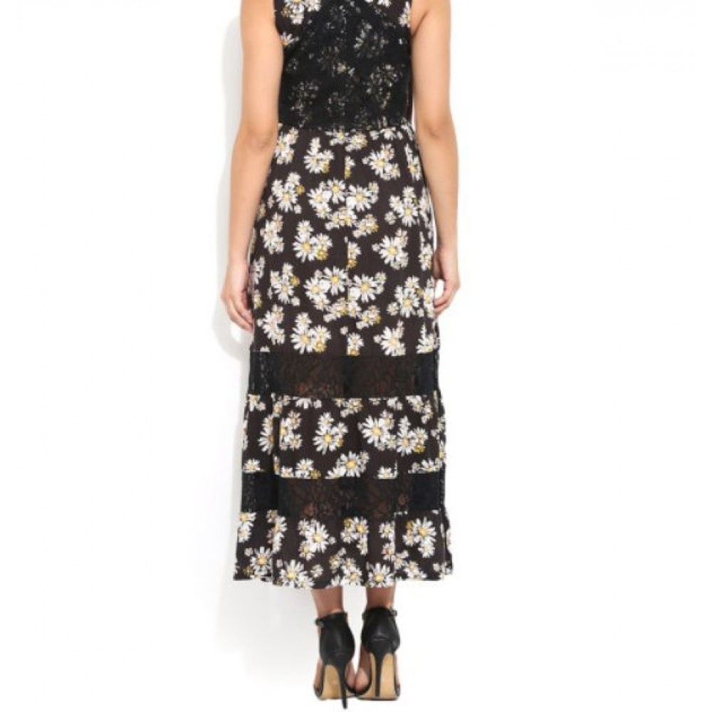 La  Facon-black-floral-print-maxi-dress