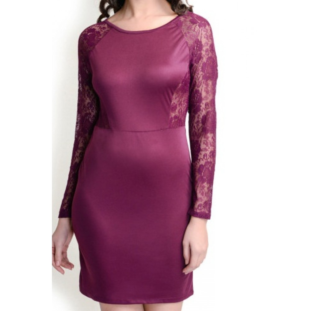 La Facon-burgundy-lace-sheath-dress