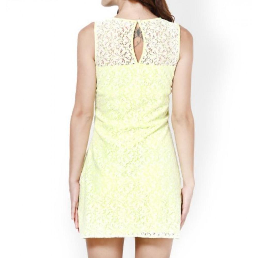 La  Facon-green-lace-shift-dress