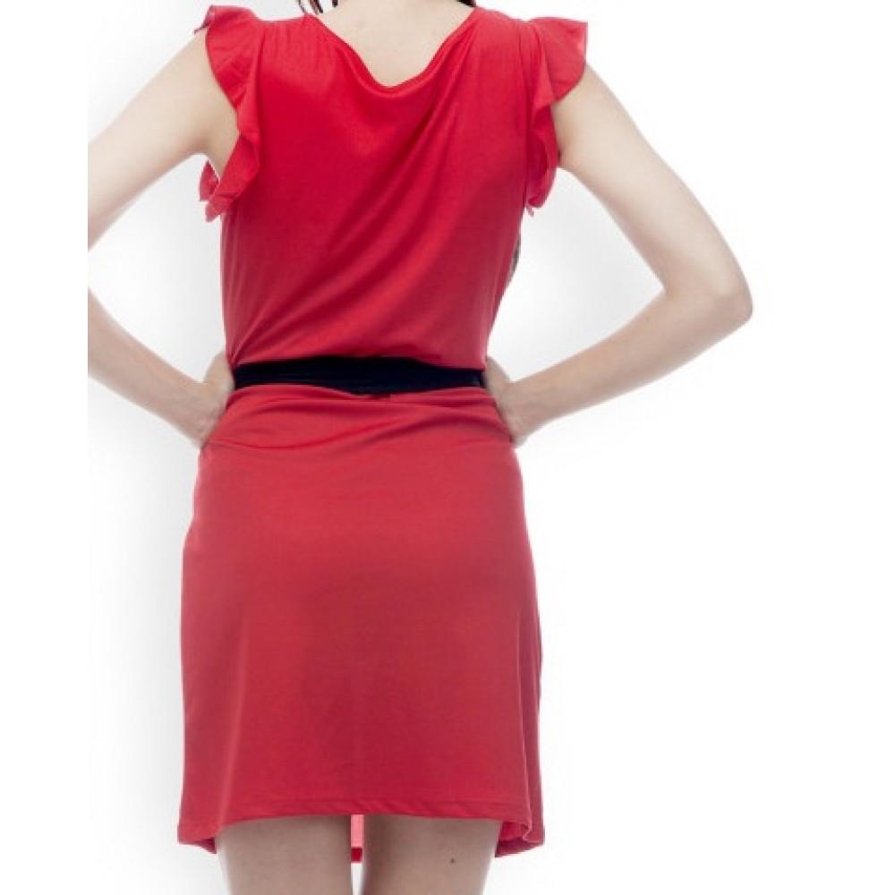 La Facon-red-shift-dress