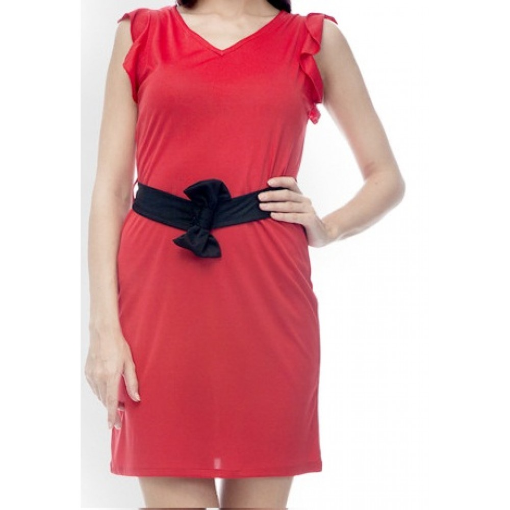 La Facon-red-shift-dress