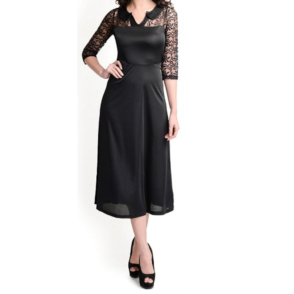 Lafacon  Black Midi Dress