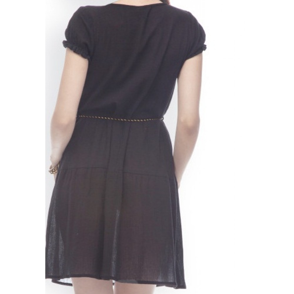 La Facon-black-a-line-dress