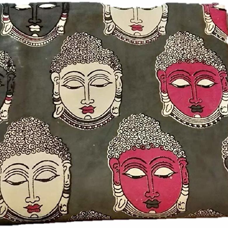 LA'Facon Paper Silk Embroidered Mirror Work Fabric