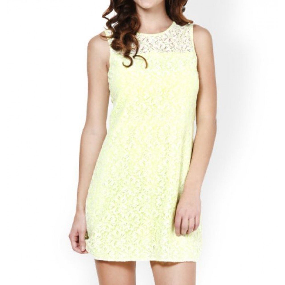 La  Facon-green-lace-shift-dress
