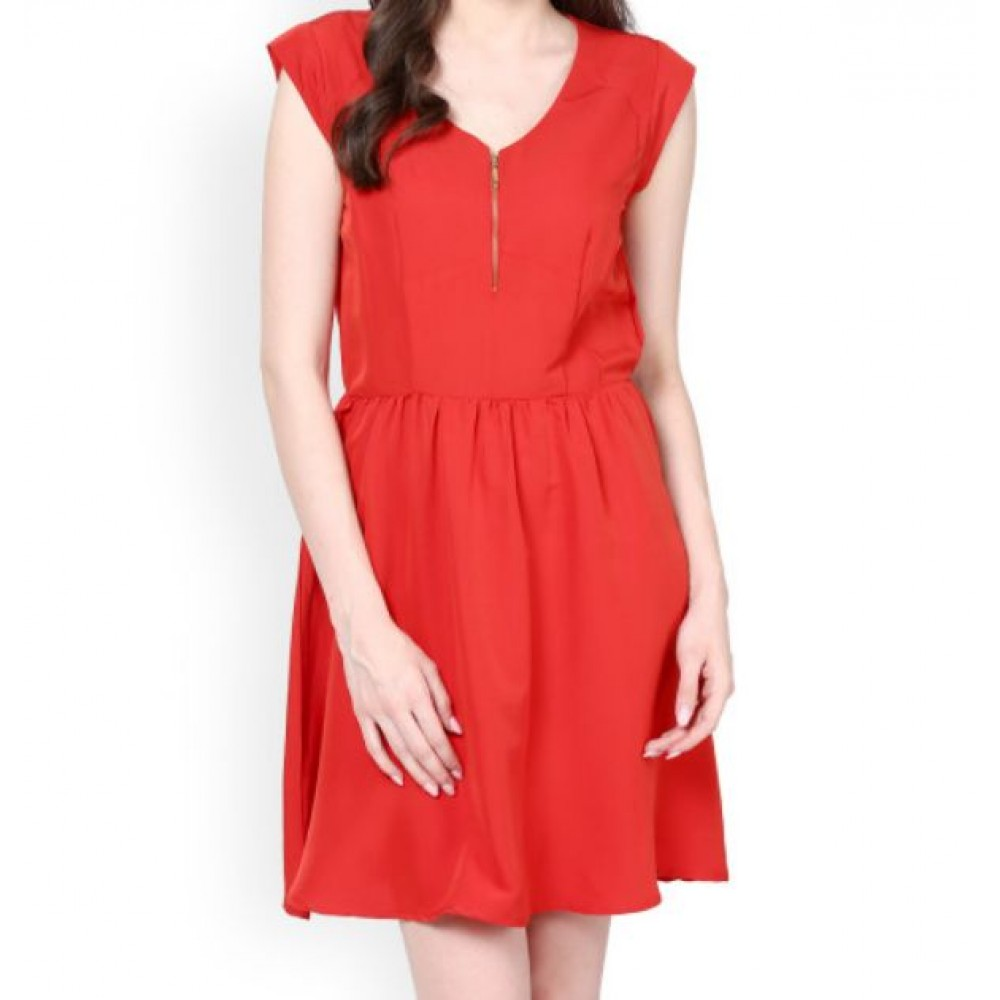 La  Facon-red-fit--flare-dress