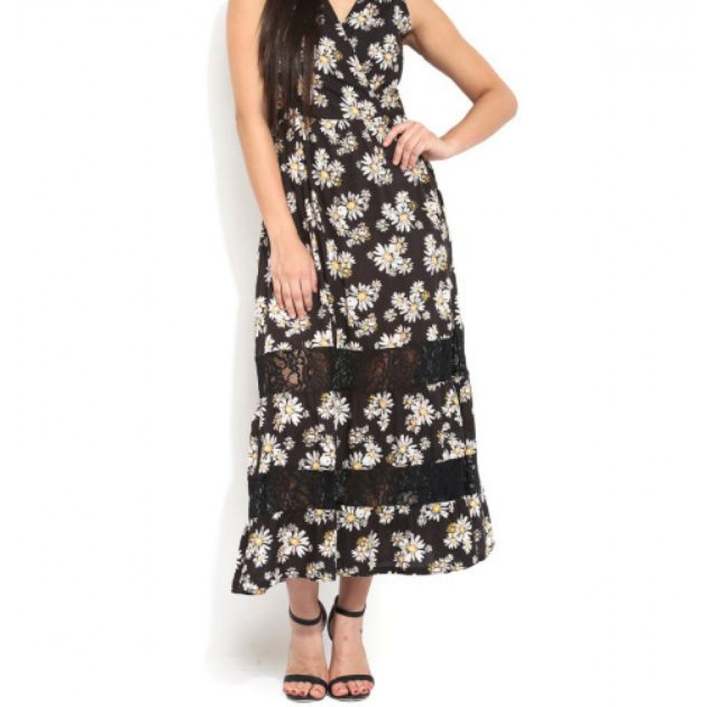 La  Facon-black-floral-print-maxi-dress