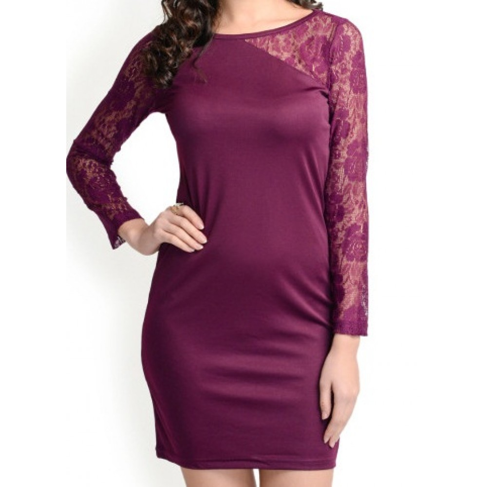 La Facon-purple-bodycon-dress