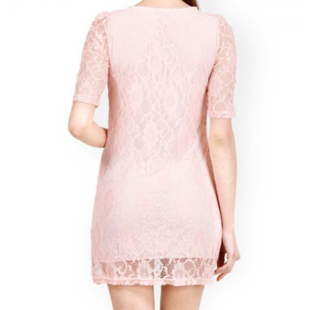 La  Facon-pink-lace-sheath-dress