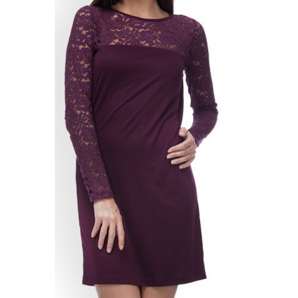 La Facon-purple-shift-lace-dress
