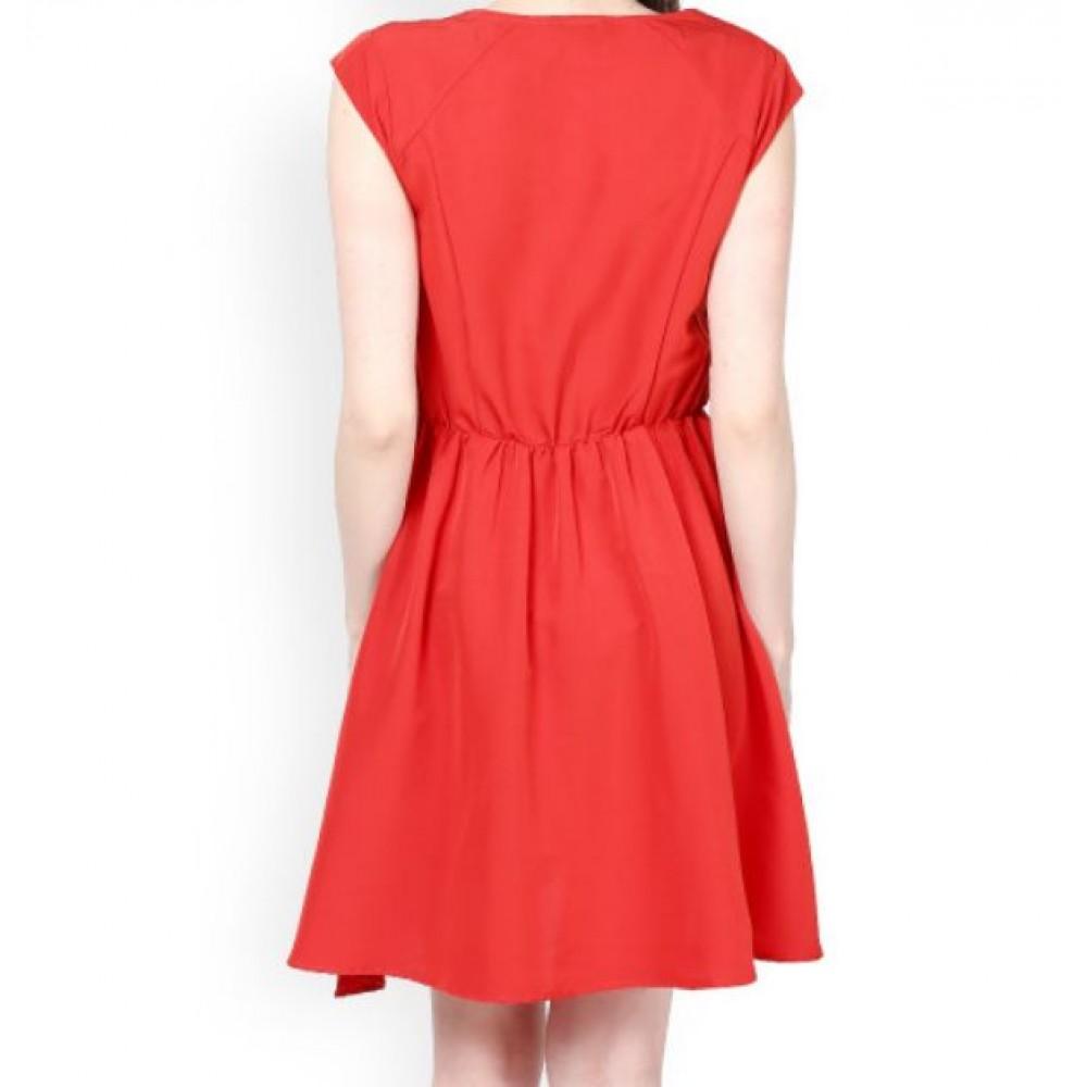 La  Facon-red-fit--flare-dress