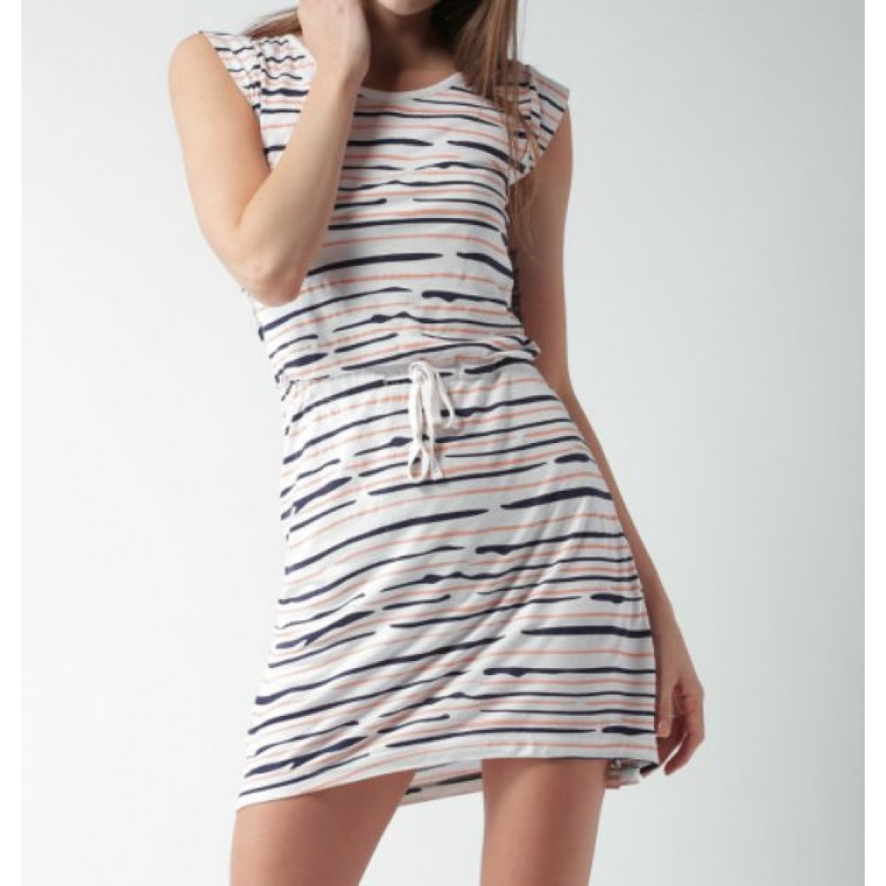 La  Facon-off-white-printed-jersey-dress
