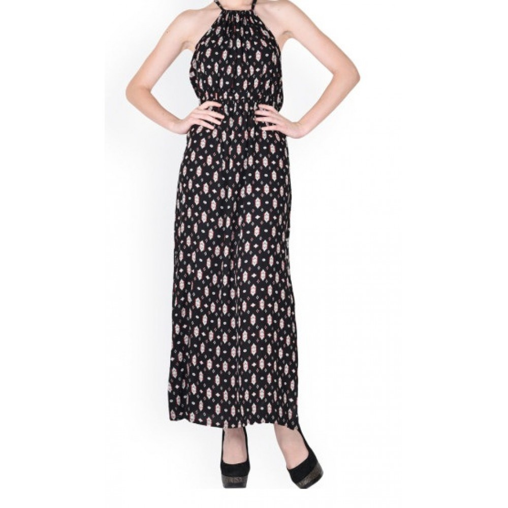 La Facon-black-printed-maxi-dress