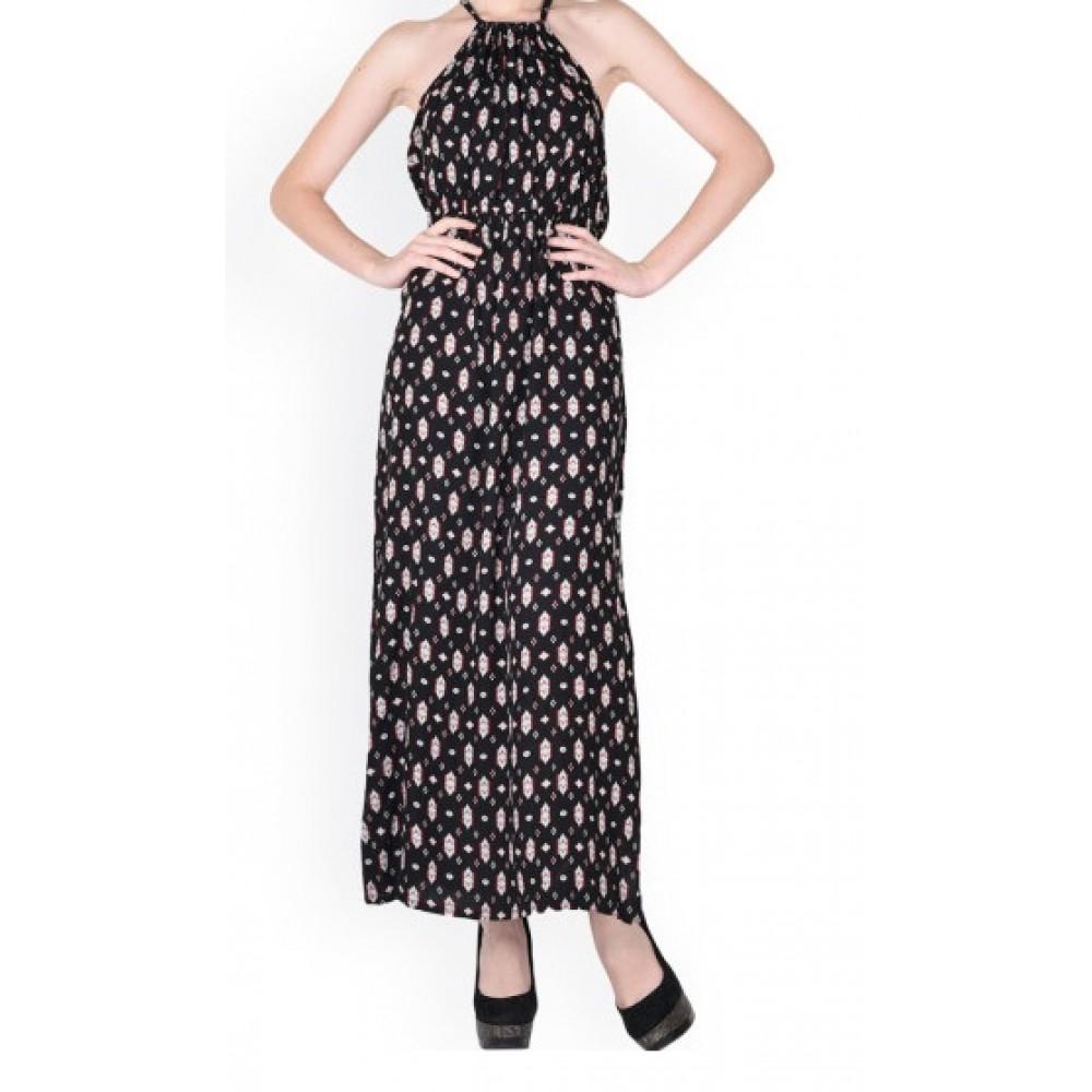 La Facon-black-printed-maxi-dress