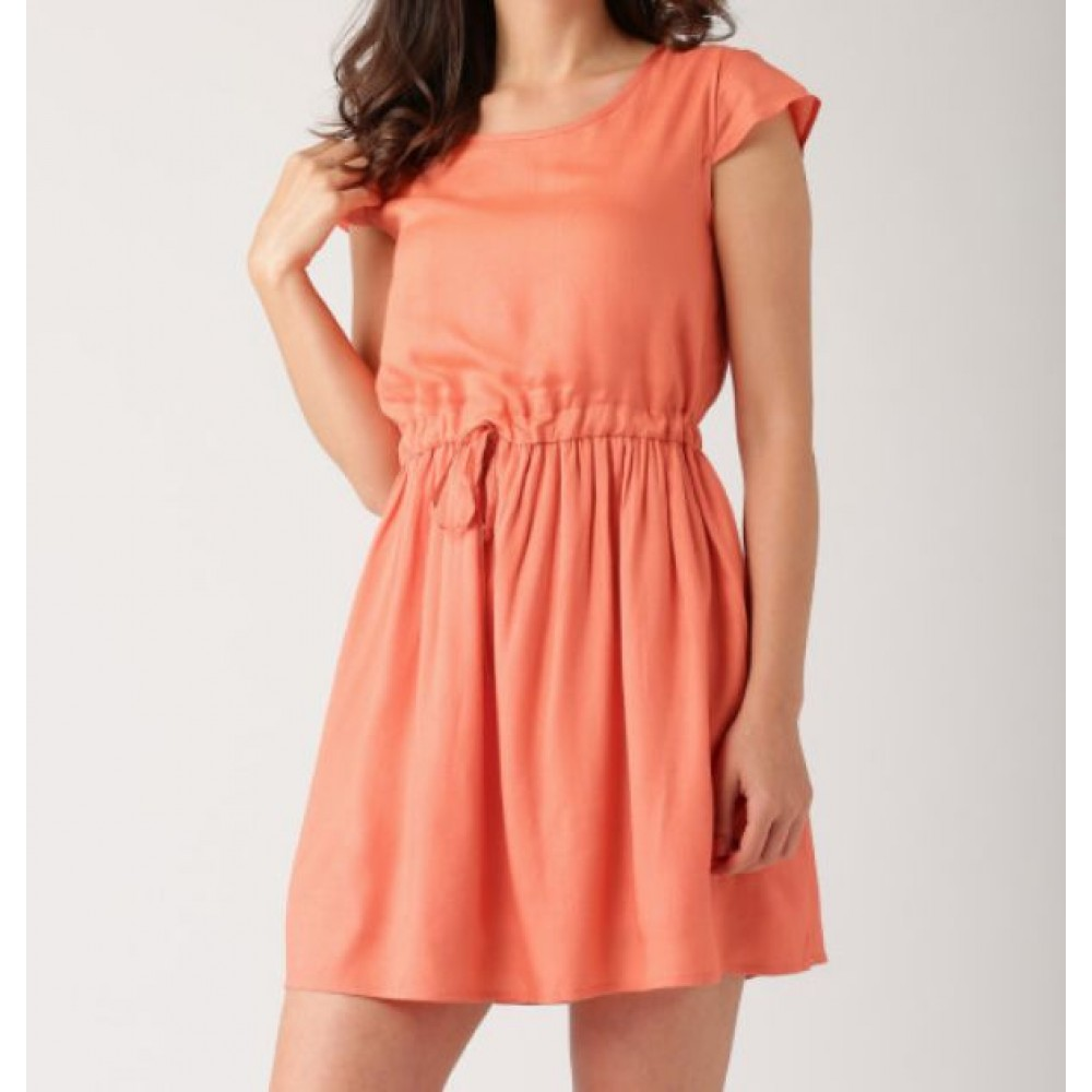 La  Facon-coral-pink-a-line-dress