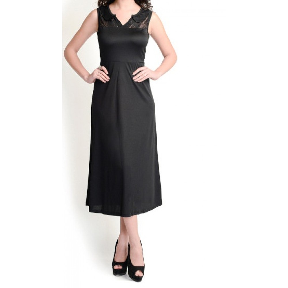 La Facon-black-midi-dress