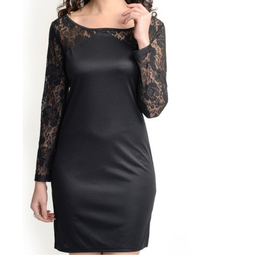 La Facon-black-lace-bodycon-dress