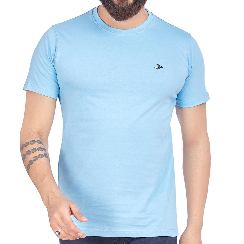 Men's Round Neck T-Shirt-Lt. Blue
