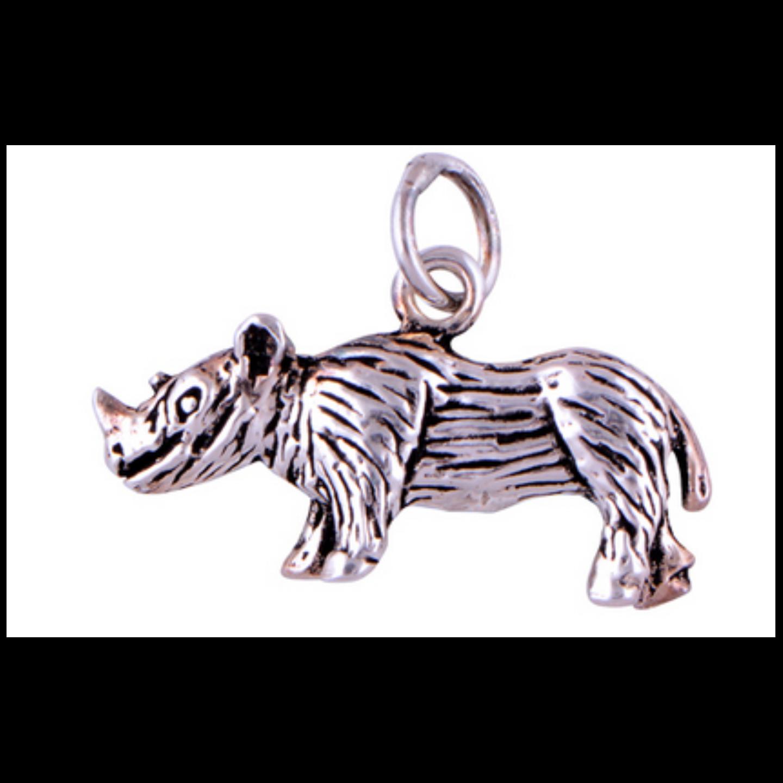 The Rhino Silver Pendant