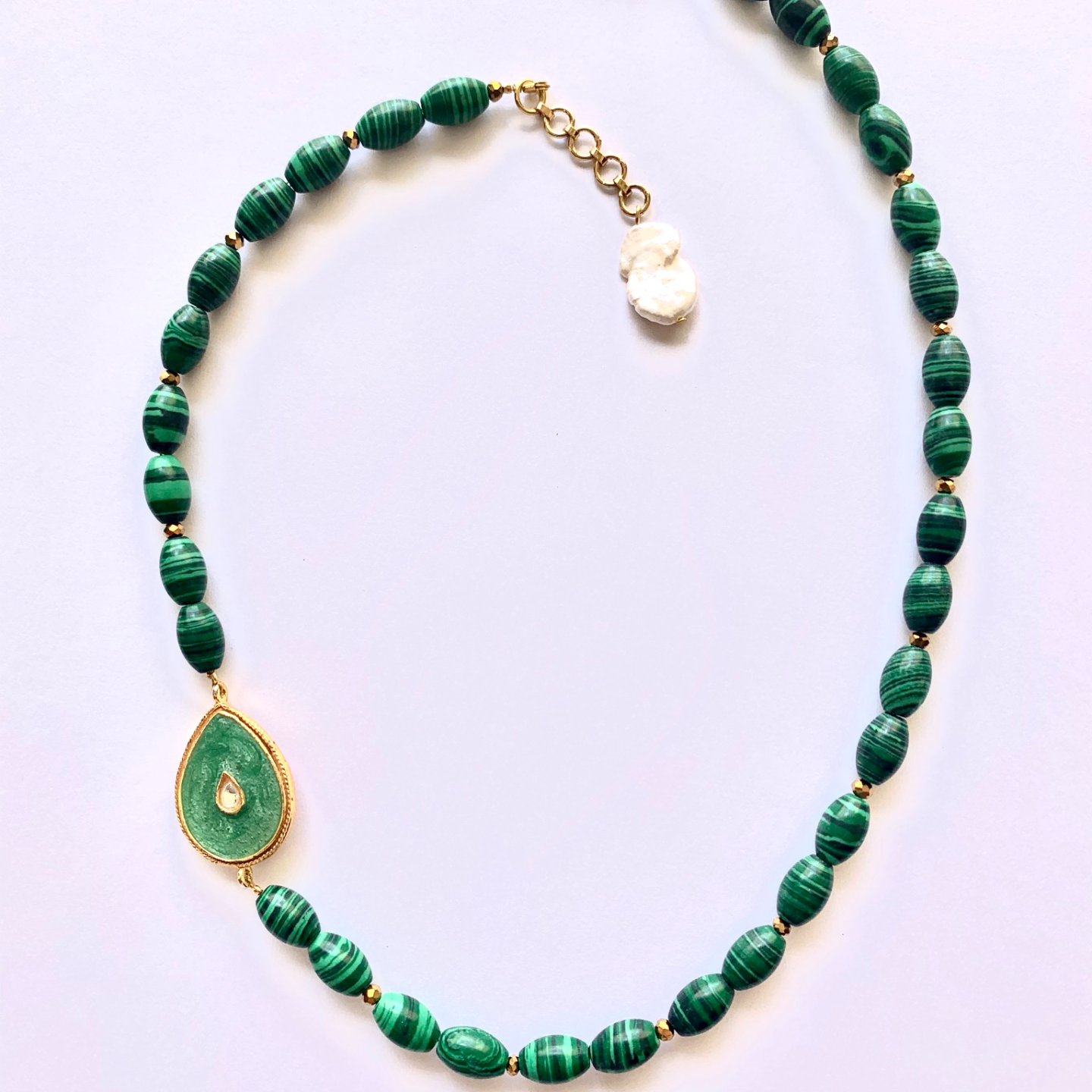 Malachite & Rose Reversible